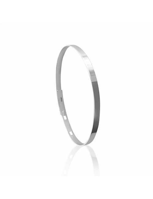 Bangle bracelet personalized silver man