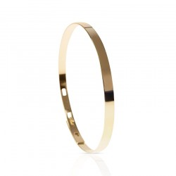 Bangle bracelet personalized in vermeil man