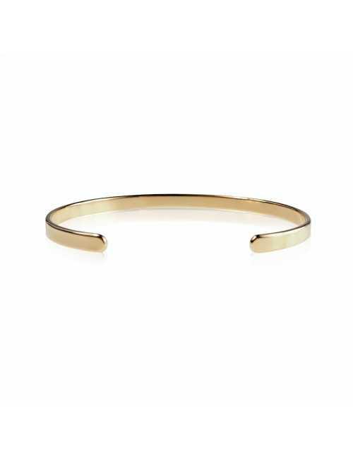Open bangle vermeil bracelet to engrave man