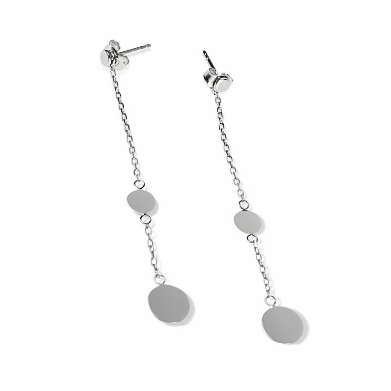 Initial silver pastille earrings to engrave woman