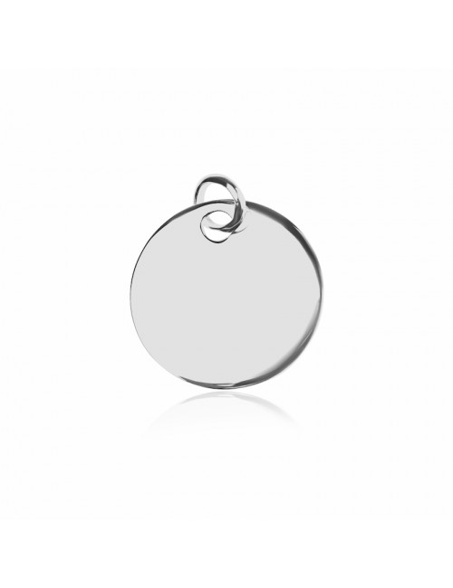 Silver medal pendant personalized man 20mm