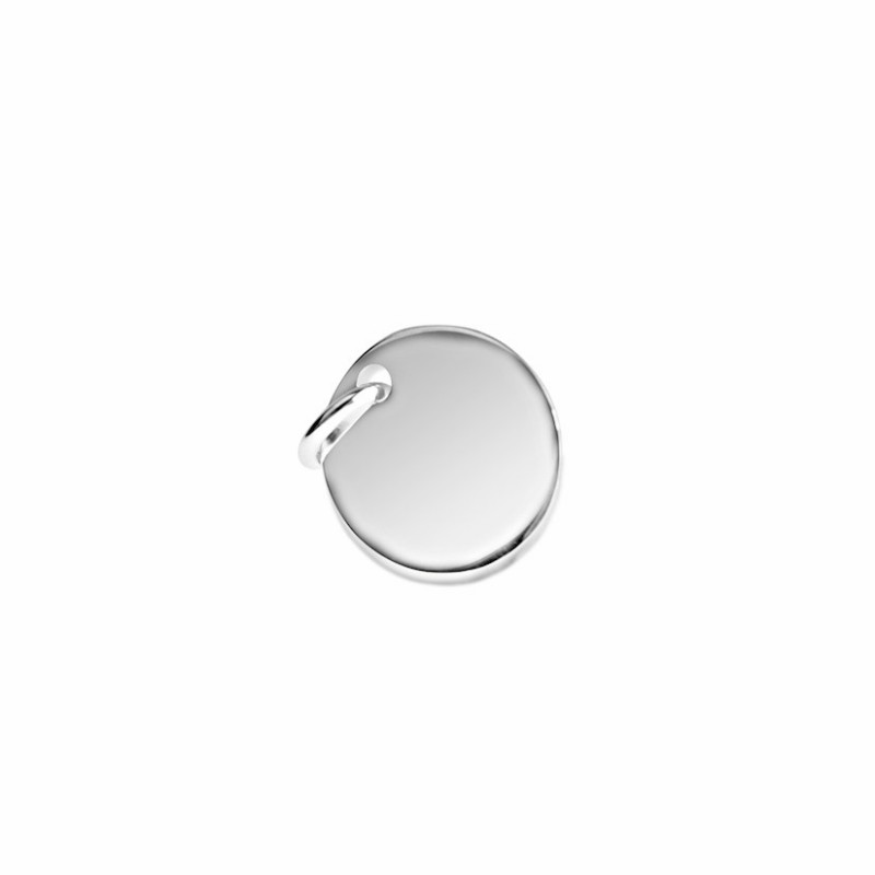 Silver medal pendant personalized man 15 mm