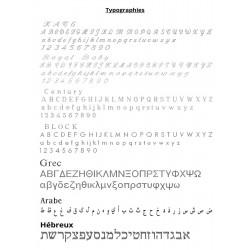 typogravure for silver circle pendant earrings