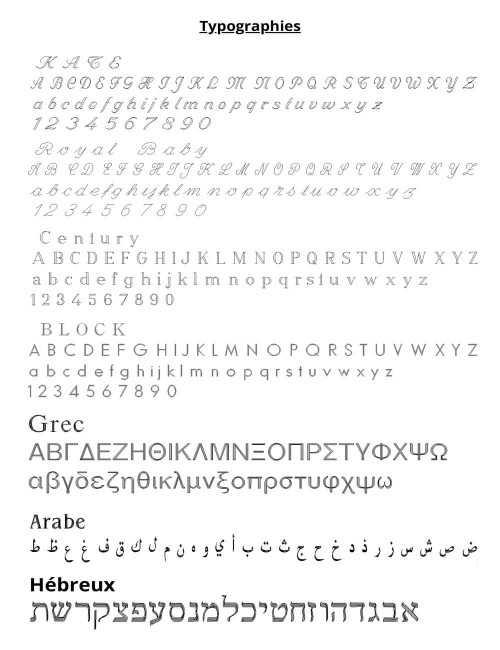 typographie pendentif cible gravure argent femme 35mm