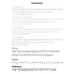 typography worn custom oval silver key