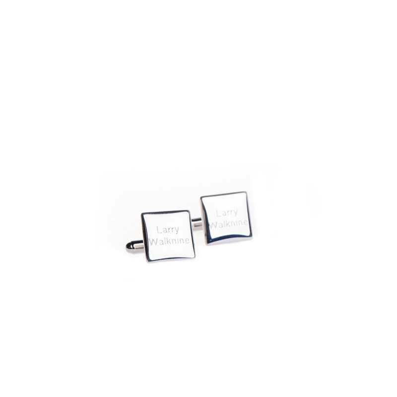 Men's personalized square cufflinks