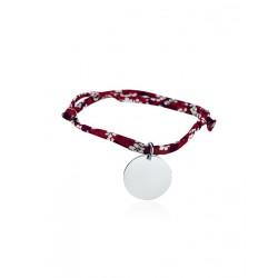 Bracelet Liberty médaille personnalisée 20mm femme