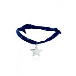 Bracelet Liberty étoile argent personnalisé femme