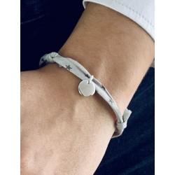 Bracelet Liberty médaille personnalisée 10mm femme