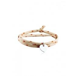 Liberty 2-ronde zilveren hart aangepaste vrouw armband