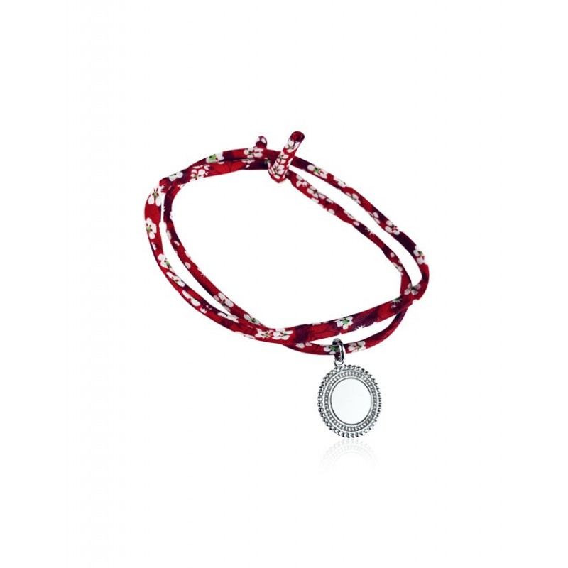 Bracelet Liberty médaillon bohème personnalisé 2 tours femme