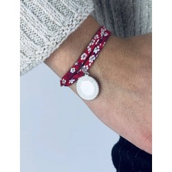 Liberty bracelet custom bohemian medallion 2 laps woman