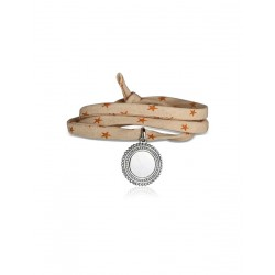 Liberty 3-round dames aangepaste bohemien medaillon armband
