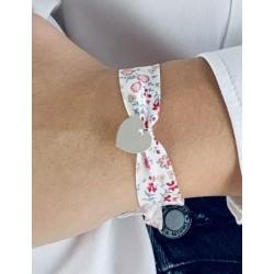 Bracelet Liberty large coeur argent à graver femme