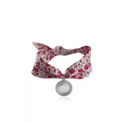 Bracelet Liberty large médaillon bohème à graver femme