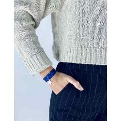 Bracelet Liberty 3 tours étoile argent personnalisé femme