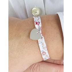 Bracelet Liberty coeur argent personnalisé femme