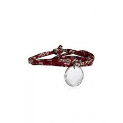 Liberty armband 3 draait aangepaste kralen medaillon vrouw