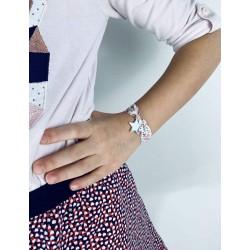 Bracelet Liberty étoile argent à graver large enfant