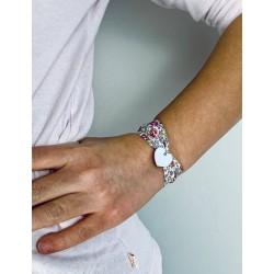 Bracelet Liberty coeur argent à graver large enfant