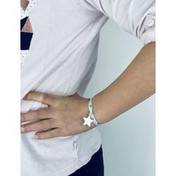 Bracelet Liberty étoile argent personnalisé enfant