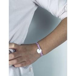 Bracelet Liberty coeur argent personnalisé enfant
