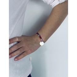 Bracelet Liberty médaille personnalisée 15 mm enfant