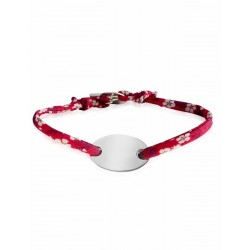 Bracelet Liberty médaille ovale à personnaliser femme