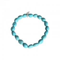 Bracelet perles turquoise femme
