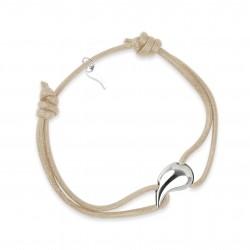 Bracelet goutte argent femme