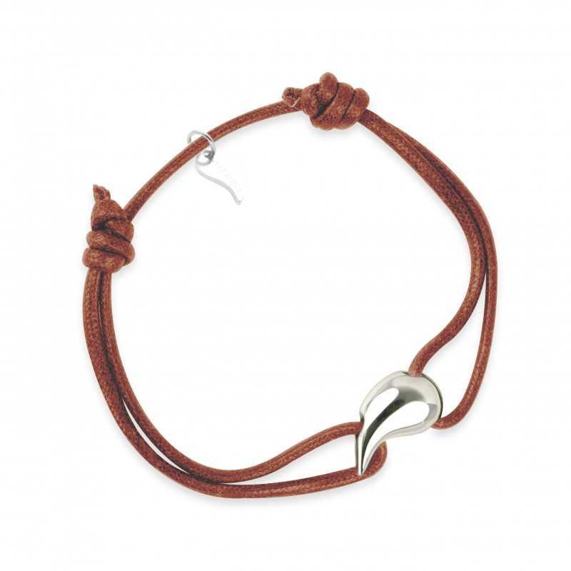 Bracelet silver drop woman