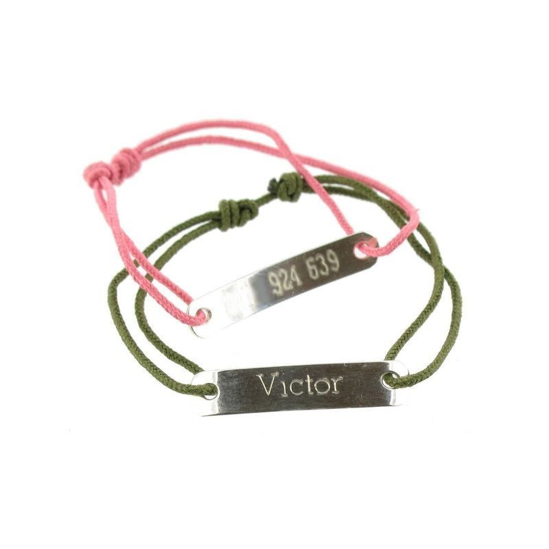 Silver child ID bracelet