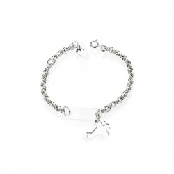 Airplane bracelet in silver
