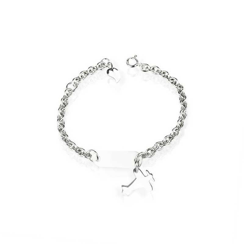 Airplane bracelet in silver
