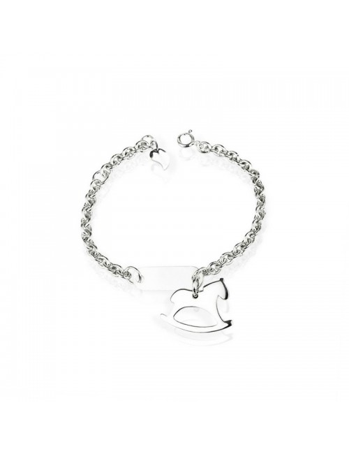 Silver horse bracelet personalized silver child