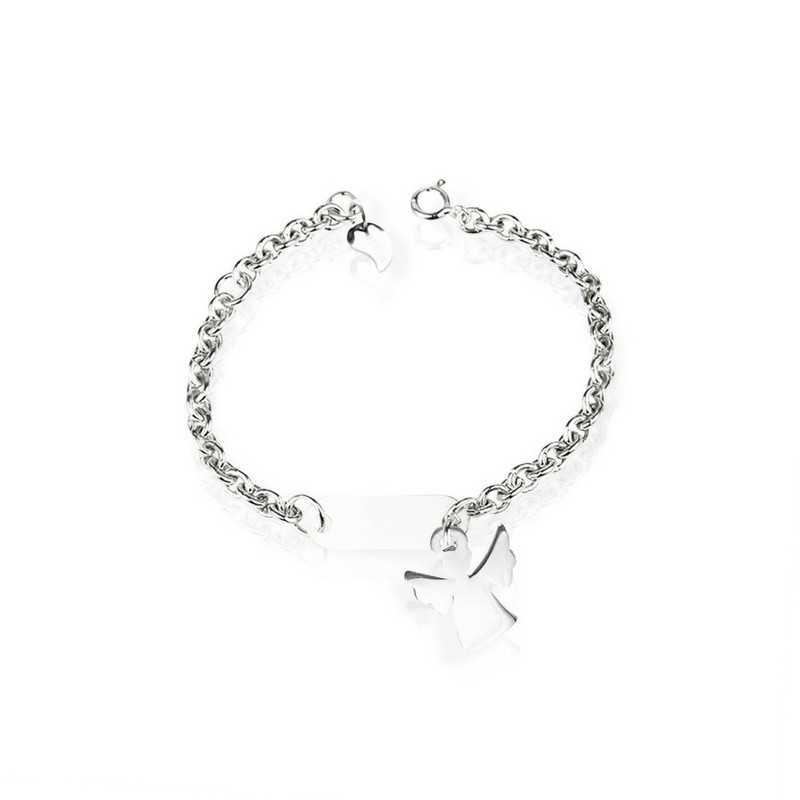 Bracelet ange argent personnalisé enfant