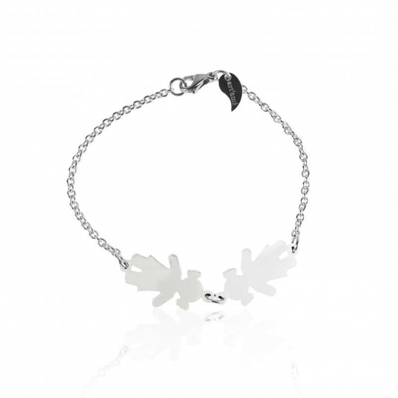 Bracelet family silver personalized woman