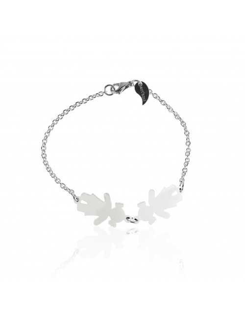 Bracelet famille argent personnalisé femme
