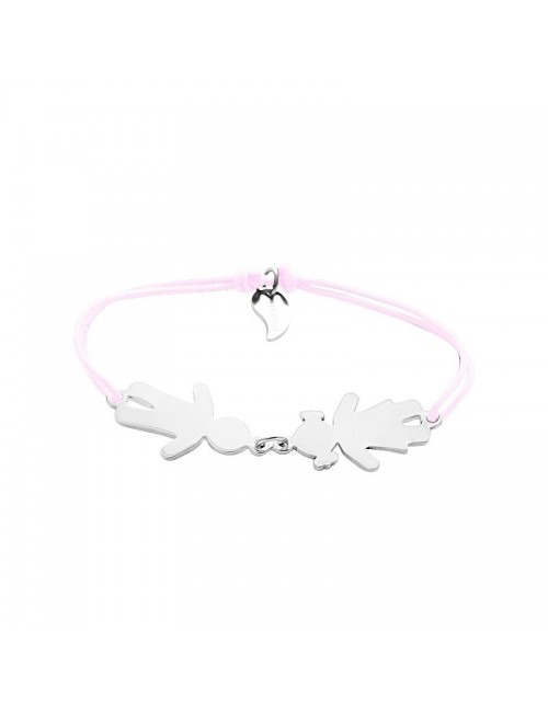 Family bracelet personalized rope woman