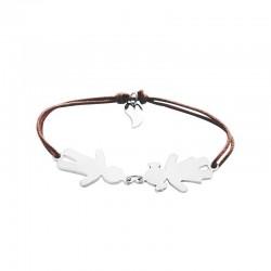 Bracelet famille corde personnalisé femme