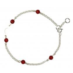 Bracelet argent corail femme