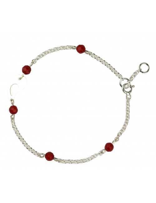 Bracelet silver coral woman