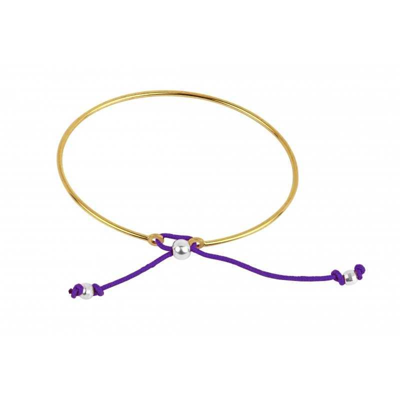 Rigid gold plated bracelet woman