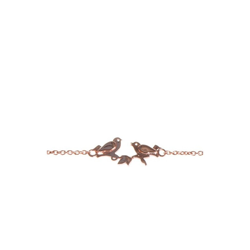 Gold plated birds bracelet woman