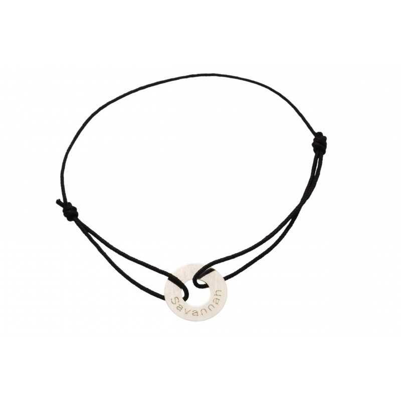 Silver message bracelet