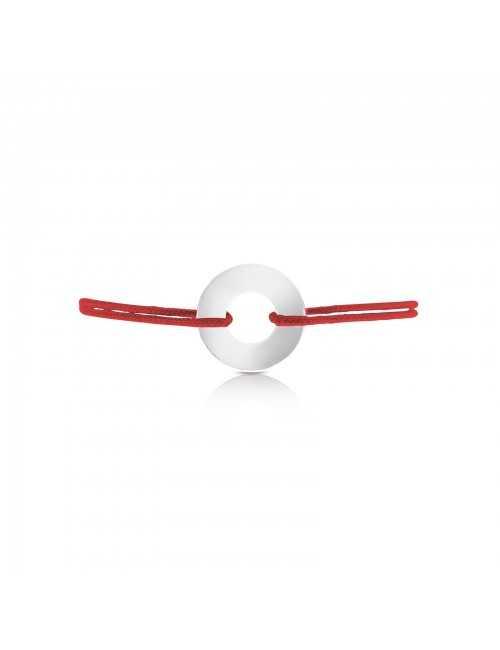 Medal target bracelet personalized rope man