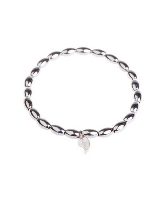 Silver pearls bracelet woman