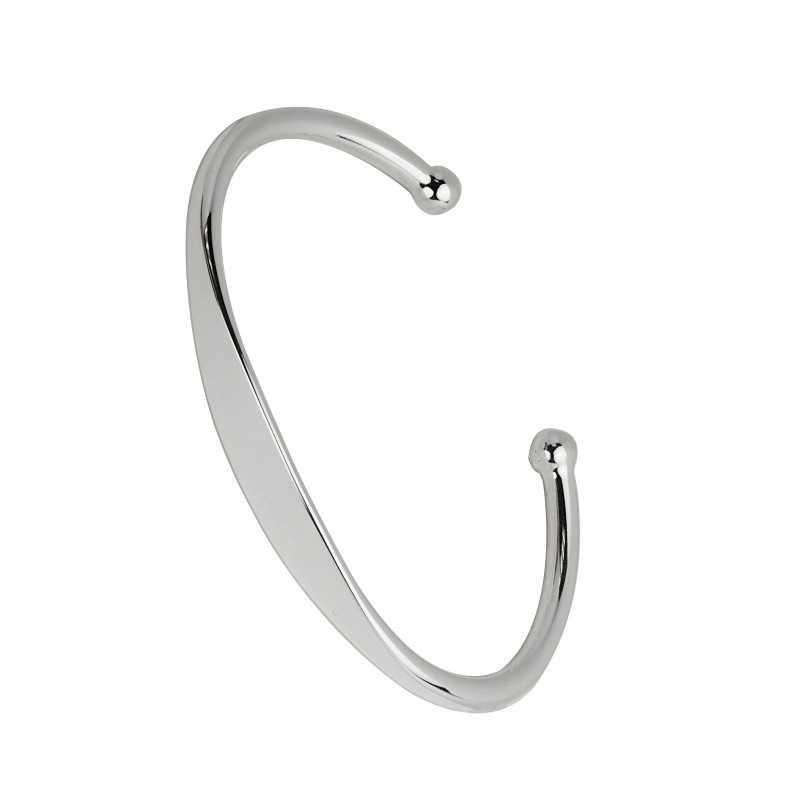 Rigide slave bracelet silver personalized man