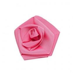 Broche stoffen roze bloem vrouw