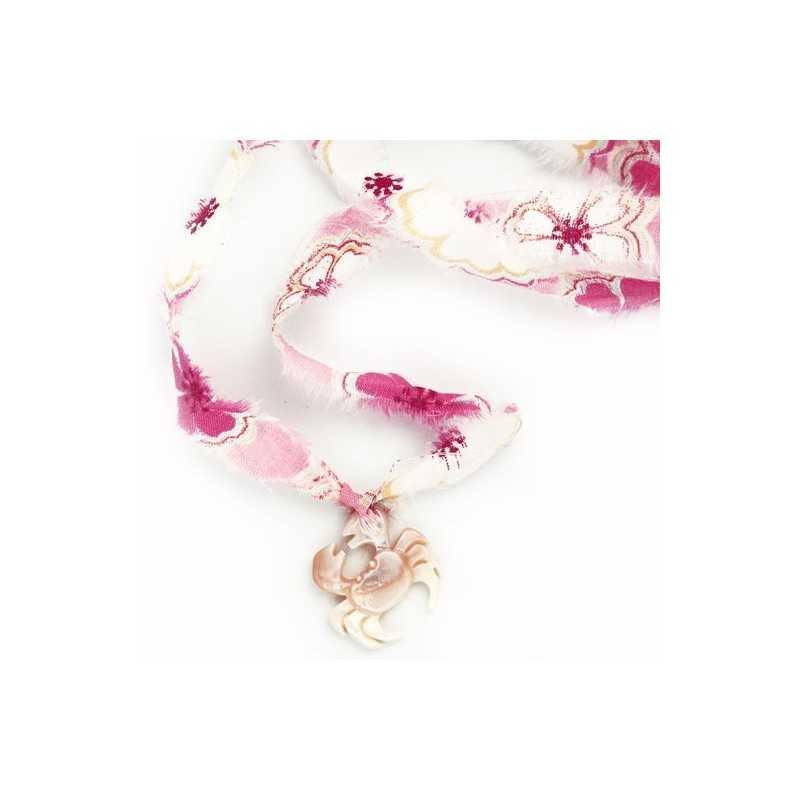 Bracelet liberty crabe rose